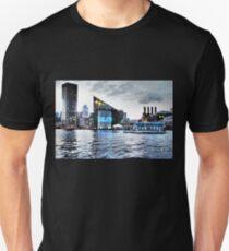 Baltimore City  Maryland Inner Harbor Night Scene T-Shirt