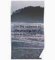 Halsey - Hurricane Lyrics 2 Poster