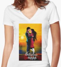 Valentine For Girlfriend Online Shopping Women S Fitted V Neck T