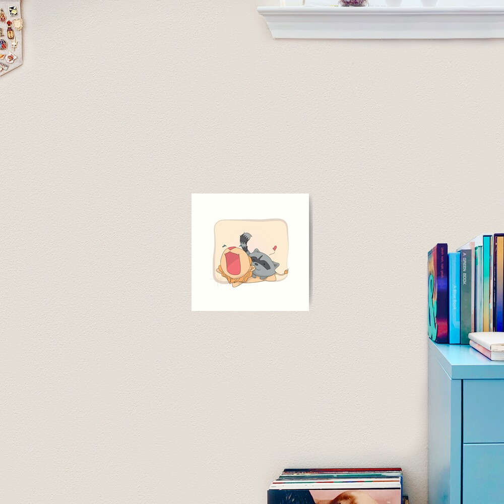Raccoon Always Wins Art Print