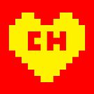 8Bit El Chapulín Heart by The World Of Pootermobile