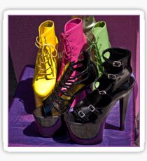 Fashionista footwear Sticker