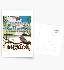 Puerto Vallarta Mexico vintage travel poster Postcards