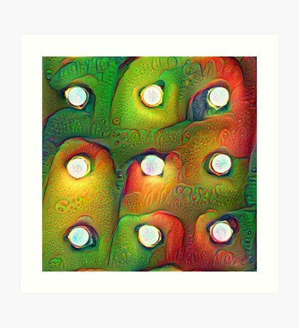 #DeepDream Lights 5x5K v1450982016 Art Print
