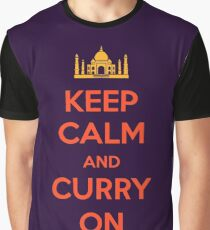 Keep Calm and Curry On Graphic T-Shirt