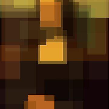 Da Vinci: Mona Lisa (computer-generated abstract version) by flatfrog00