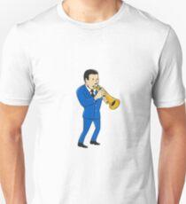 Musician Playing Trumpet Cartoon T-Shirt