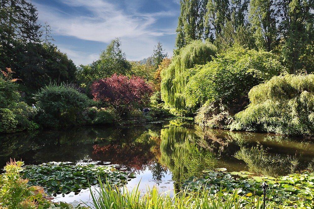 Butchart Gardens Pond by KirtTisdale