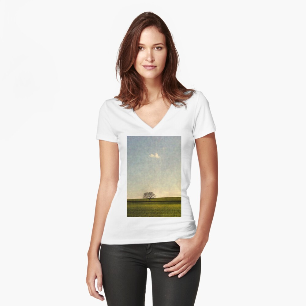 Glimmer Women's Fitted V-Neck T-Shirt Front