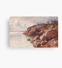 HJALMAR MUNSTERHJELM, COSTAL VIEW WITH ROCKS Canvas Print