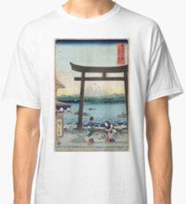 Gateway To Enoshima In Sagami - Hiroshige Ando - 1858 - woodcut Classic T-Shirt