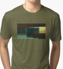Hopper: Nighthawks (computer-generated abstract version) Tri-blend T-Shirt