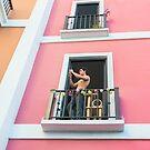Pink House Balcony by Valerie Rosen