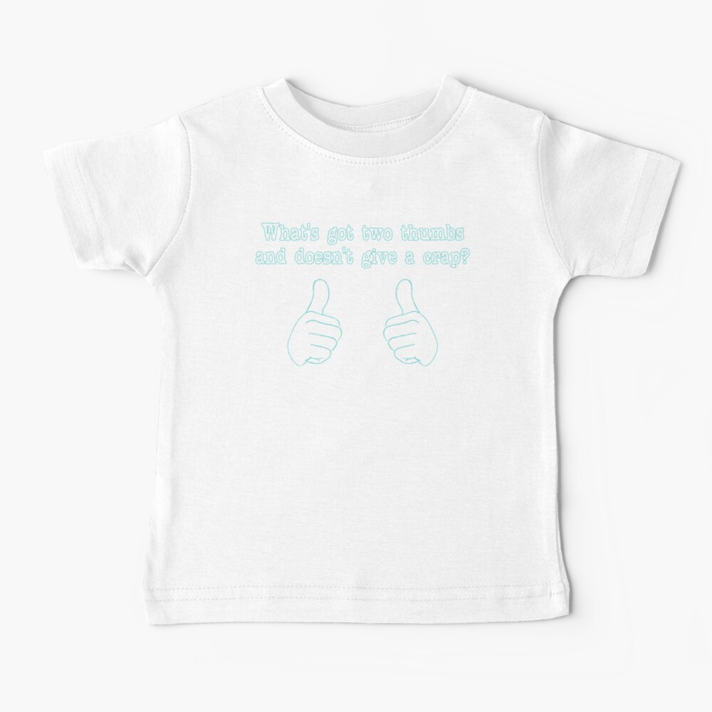 Was hat zwei Daumen? Baby T-Shirt