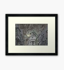 Hungarian Horntail in Green Framed Print