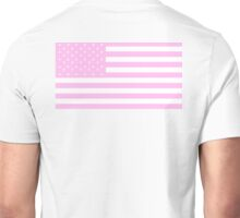 PINK, American Flag, United States of America, American flag in Pink, Stars & Stripes in Pink, America, USA Unisex T-Shirt