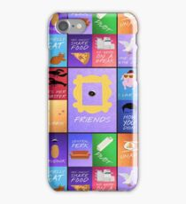 Friends TV Series Sitcom Catchy Quotes Minimal Collage Artwork iPhone Case/Skin