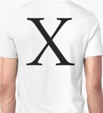 X, ex, Alphabet Letter, X ray, A to Z, 24th Letter of Alphabet, Initial, Name, Letters, Tag, Nick Name T-Shirt