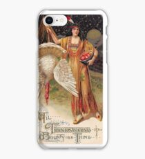 Bountiful Holiday Turkey American Maiden Vintage iPhone Case/Skin