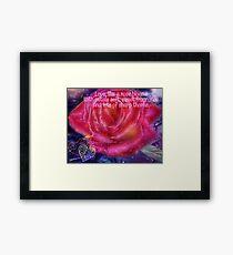 Love like a Rose Framed Print