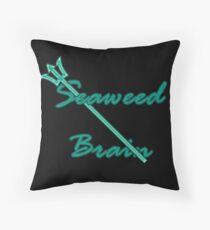 Seaweed Brain Throw Pillow
