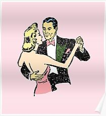 1940s dancing couple Poster