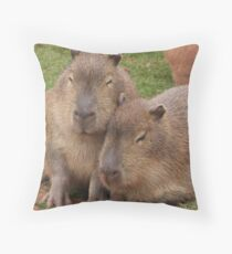 Capybara Love Throw Pillow