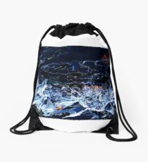 The wonderful Sound of the little moving and clinking Ice Floes Drawstring Bag