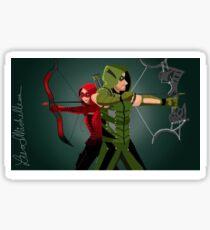 Green Arrow and Speedy ARROW Sticker