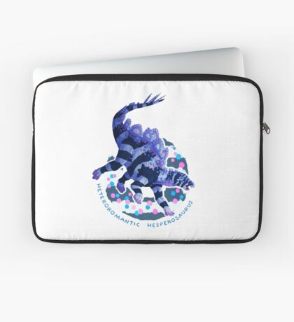 Heteroromantic Hesperosaurus (with text)  Laptop Sleeve