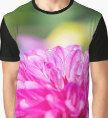 Dahlia Flower Colourful Macro Graphic T-Shirt