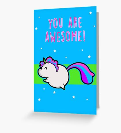 Unicorn of Awesome Greeting Card