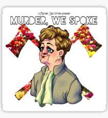 Murder, We Spoke Logo (01) Sticker