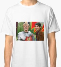 Merlin and Arthur being dorks - Merthur -  Classic T-Shirt
