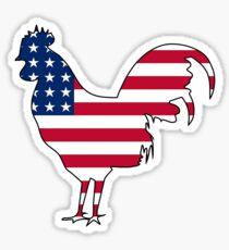 American flag chicken rooster hen Sticker