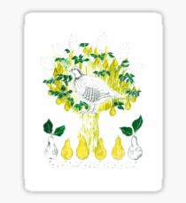 Partridge in a Pear Tree Sticker