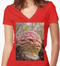 Baby Toadstool Women's Fitted V-Neck T-Shirt