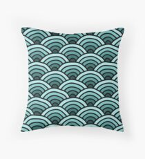 Pretty Green Waves Throw Pillow