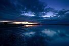 Holy Island Causeway - Sunset by Nigel Bangert