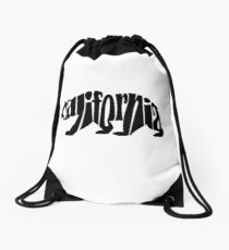 black california bear Drawstring Bag