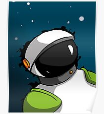 Astronaut in Space for Kids Poster