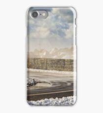 Snowy Curve at Yarmouth Bar iPhone Case/Skin