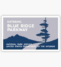 Blue Ridge Parkway Sign, VA & NC, USA Sticker