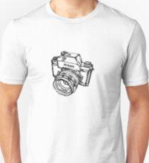 Nikon F Classic Film Camera Illustration Slim Fit T-Shirt