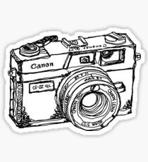 Canon Canonet QL17 GIII Rangefiner Camera Sticker