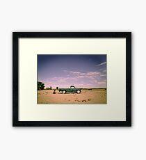 Lonely Pickup Framed Print