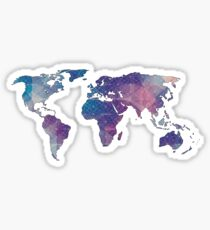 geometric watercolor continent Sticker