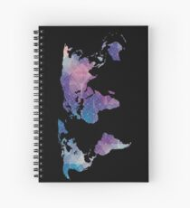 geometric watercolor continent Spiral Notebook