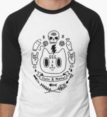Cats & Metal Men's Baseball ¾ T-Shirt