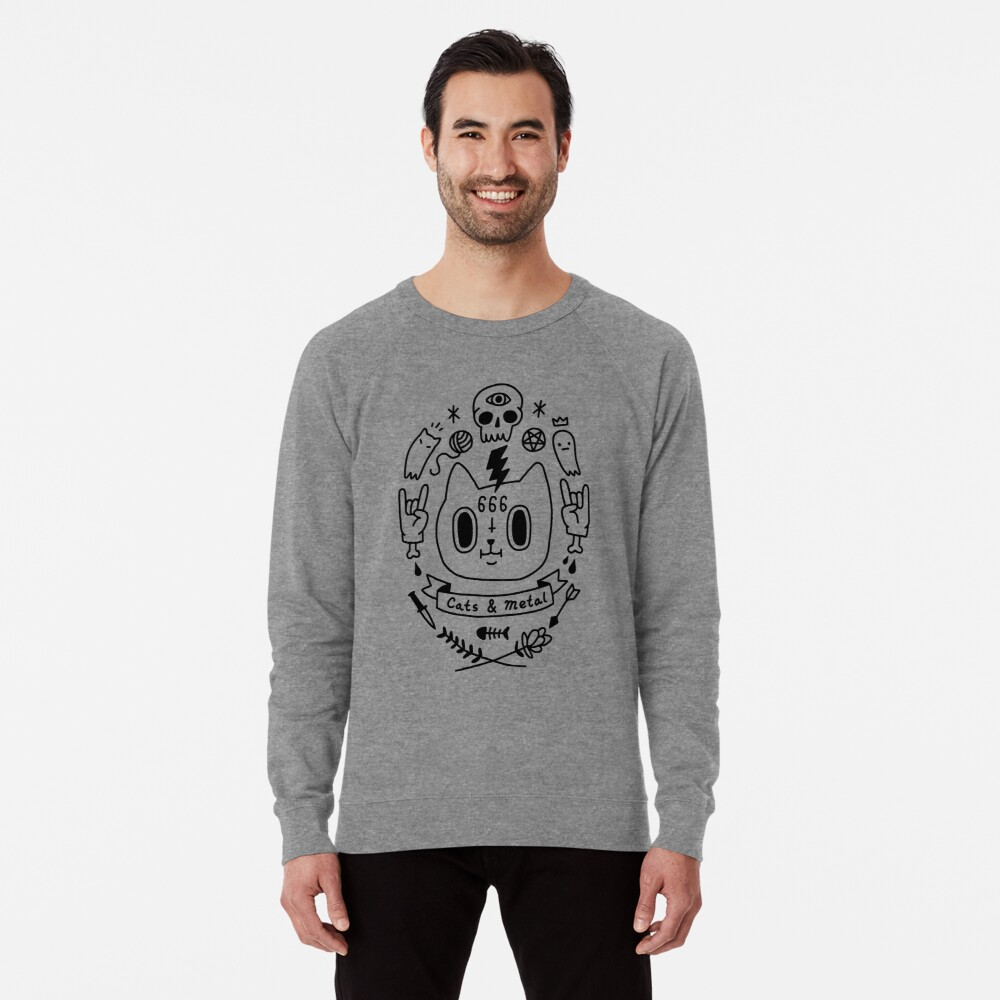 Cats & Metal Lightweight Sweatshirt